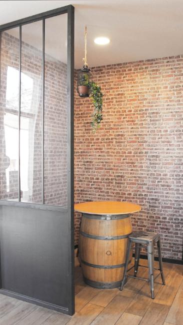Tonneau bar - La boulangerie le Pain des Lys