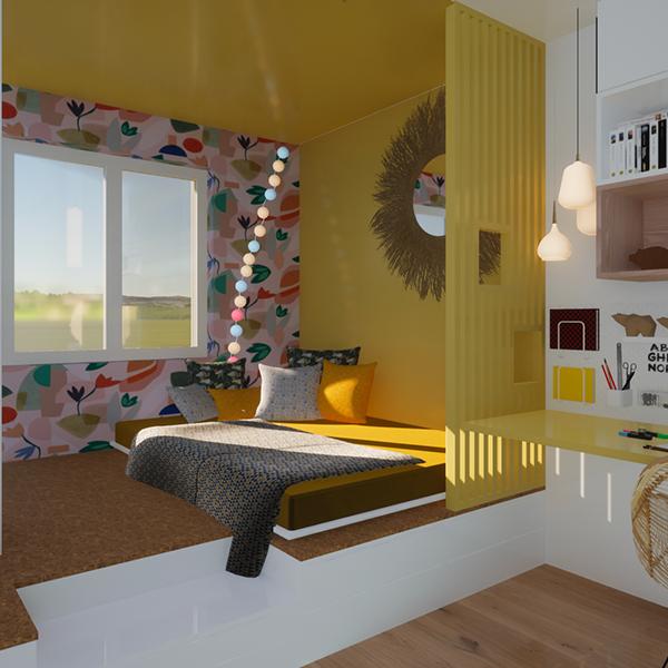 Projet D. – Aménagement d'espaces intérieurs